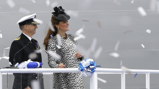 The Duchess of Cambridge and Captain Tony Draper