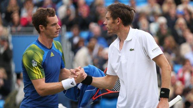 Andy Murray and Nicolas Mahut