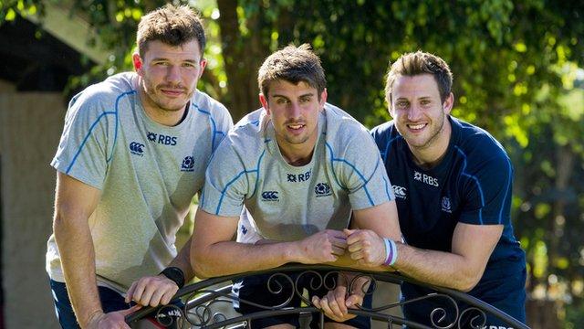 New Scotland caps Tim Swinson, Peter Murchie and Tommy Seymour