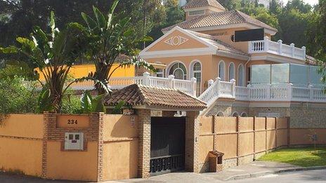 Toni Muldoon's Spanish villa