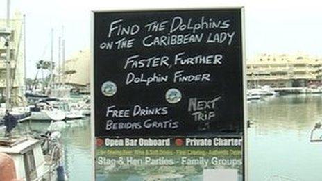 Caribbean Lady sign in Benalmadena
