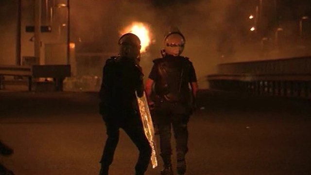Police firing weapons in Istanbul