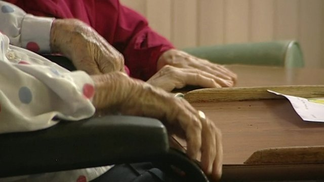 Elderly people's hands