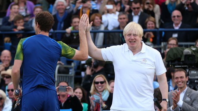 Boris Johnson and Andy Murray