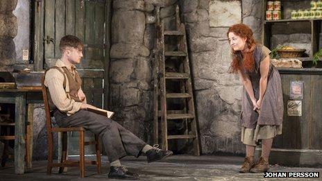 Daniel Radcliffe (Billy), Sarah Greene (Helen McCormick). pic by Johan Persson