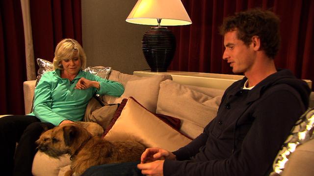 Sue Barker interviews Andy Murray