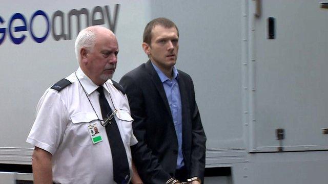 Jeremy Forrest arriving at court
