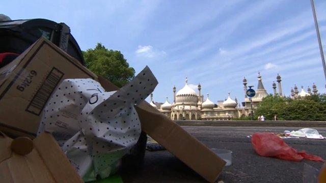 Rubbish in Brighton