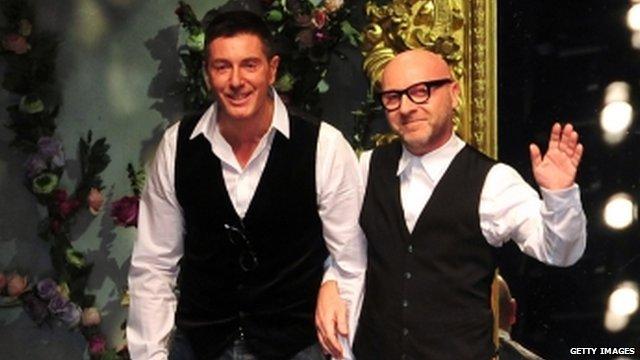 Designers Stefano Gabbana (L) and Domenico Dolce (R)