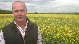 Farmer Stuart Meeson in Lincolnshire