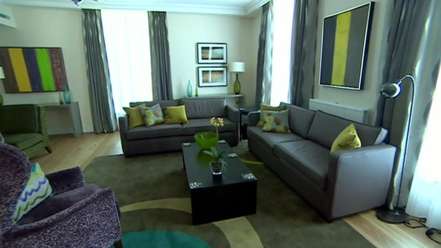 A lounge at Fisher House