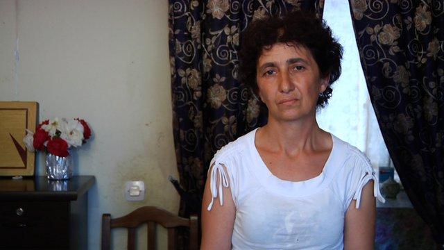 War refugee Iza Mikhanashvili