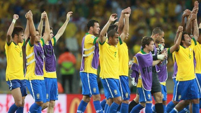 Brazil team celebrate