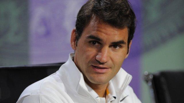 Defending Wimbledon men's champion Roger Federer