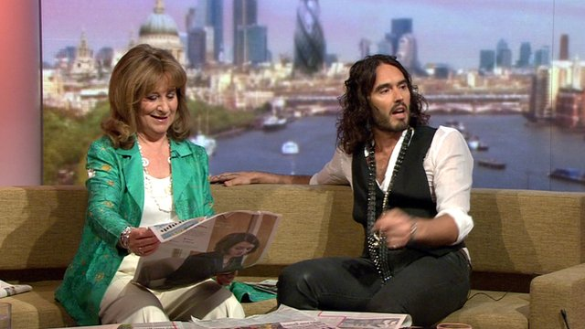 Helena Kennedy and Russell Brand