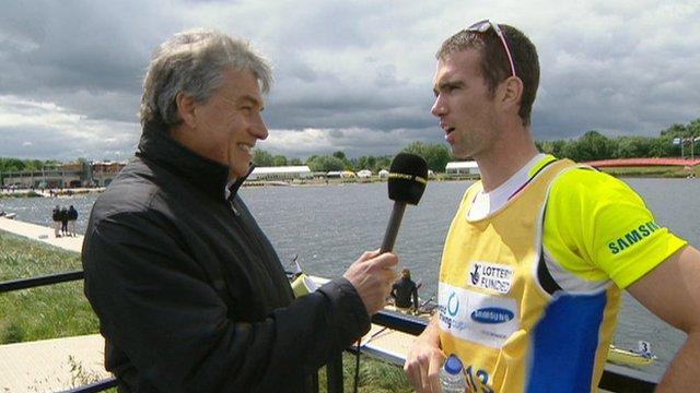 John Inverdale interviews Richard Chambers at Eton Dorney
