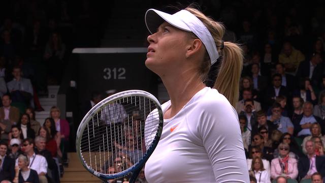 Maria Sharapova arguing with umpire