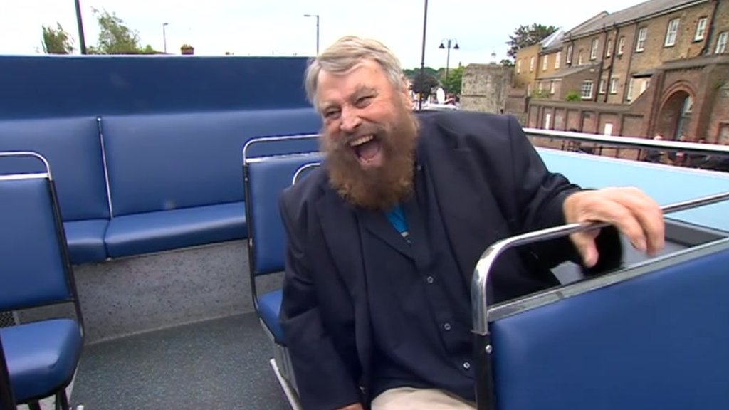 Brian Blessed on Medway bus