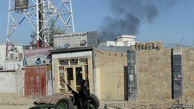 Entrance gate of the Presidential palace in Kabul