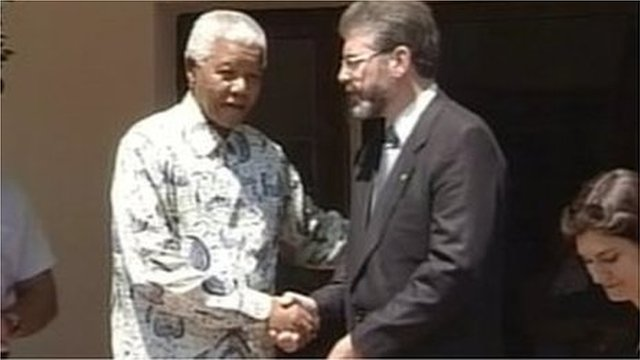 Nelson Mandela and Gerry Adams