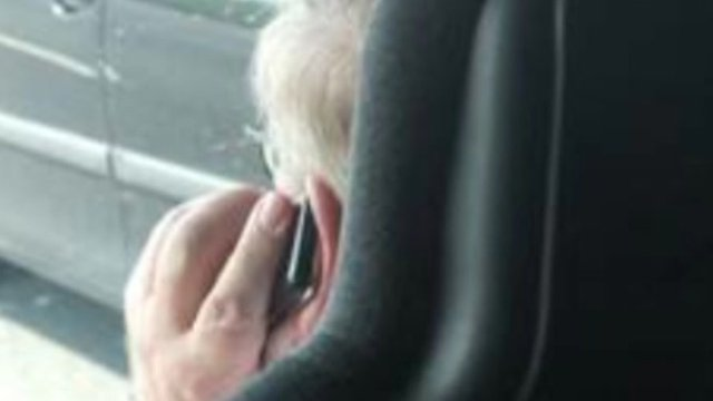 Shearings driver pictured on his mobile phone while driving on the M6
