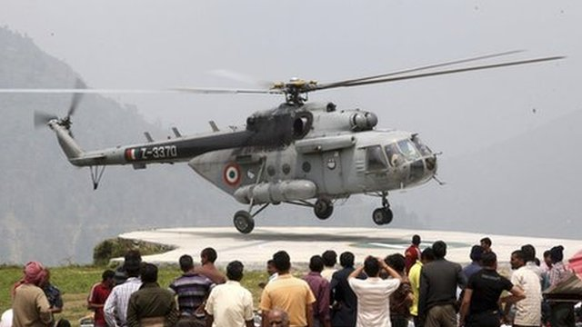 Another helicopter taking part in the rescue operation, Uttarakhand, 23 June