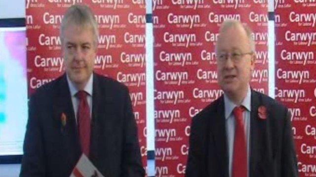 Carwyn Jones a Leighton Andrews