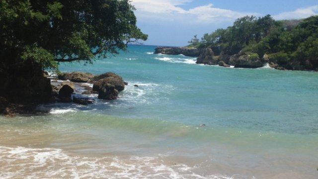 A beach in Haiti