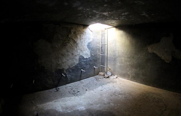 An empty water tank