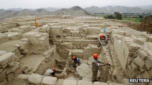 Site at El Castillo de Huarmey, Peru