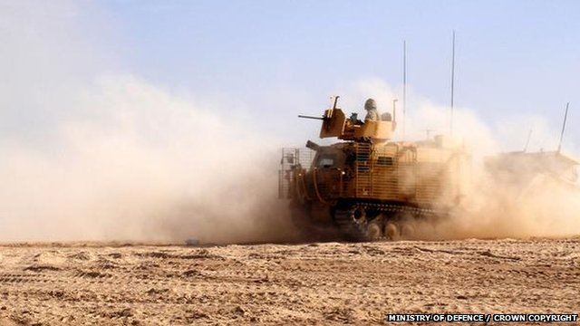 British soldier from the 2nd Royal Tank Regiment in Afghanistan