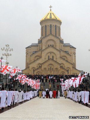 Tbilisi's Sameba cathedral was built at considerable expense after Georgia gained independence in 1991