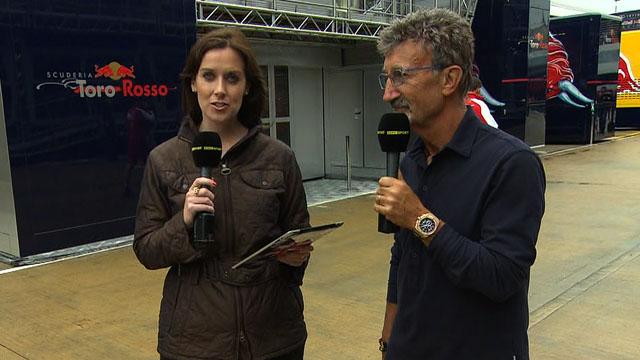 BBC Sport's Lee McKenzie and Eddie Jordan