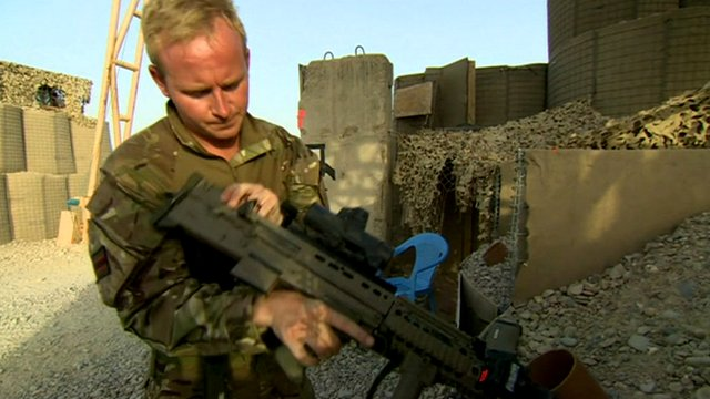 Major Aaron West, 4th Battalion the Rifles, in Afghanistan