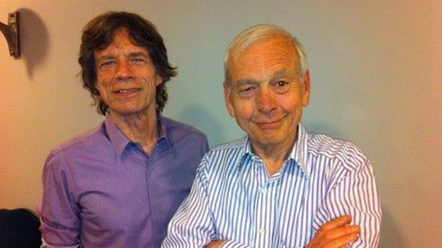 Mick Jagger and John Humphrys