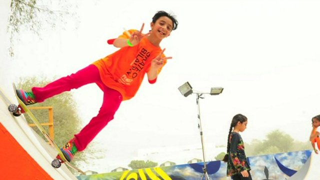 Niece of Dubai's leader on skateboard