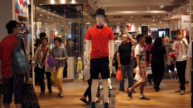 Hong Kong clothes shop