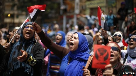 Protesters in Tahrir Square demand resignation of Mohammed Morsi (1 July 2013)