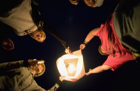 chinese lantern at 2010 glastonbury