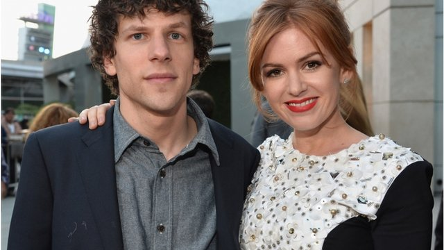 Jesse Eisenberg and Isla Fisher at the premiere of Now You See Me