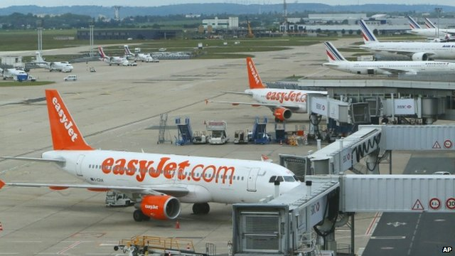 Easyjet planes at airport