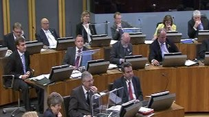 The Welsh assembly on Tuesday evening