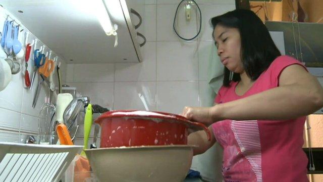 Filipino maid in Hong Kong