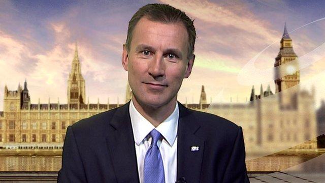 Health Secretary Jeremy Hunt