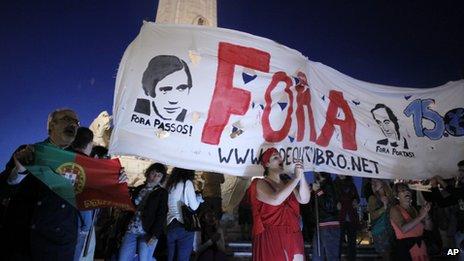 Anti-government protest in Lisbon, 2 Jul 13