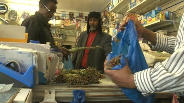 Khat being sold in a Bristol store