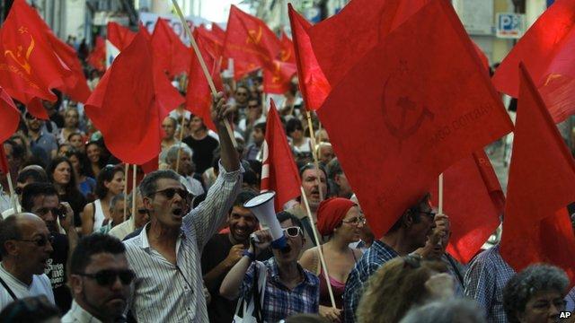Protest in Portugal