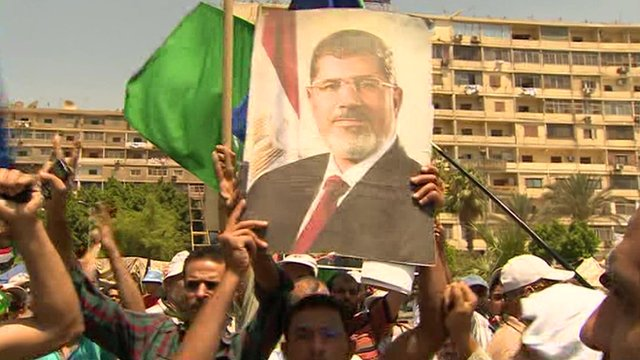 People supporting Mohammed Morsi