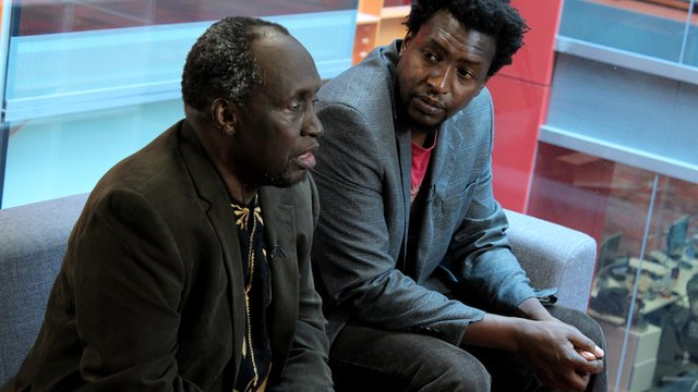 Ngugi wa Thiong'o and his son Mukoma wa Ngugi