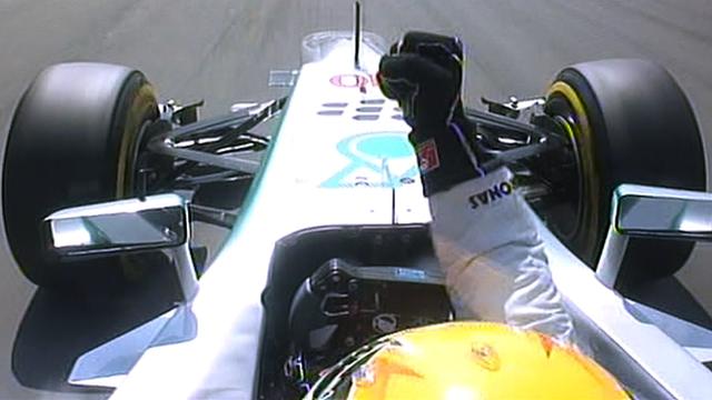 Watch Lewis Hamilton's pole lap
